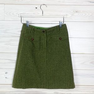 Lilly Pulitzer Wool Blend Striped Skirt Size 2